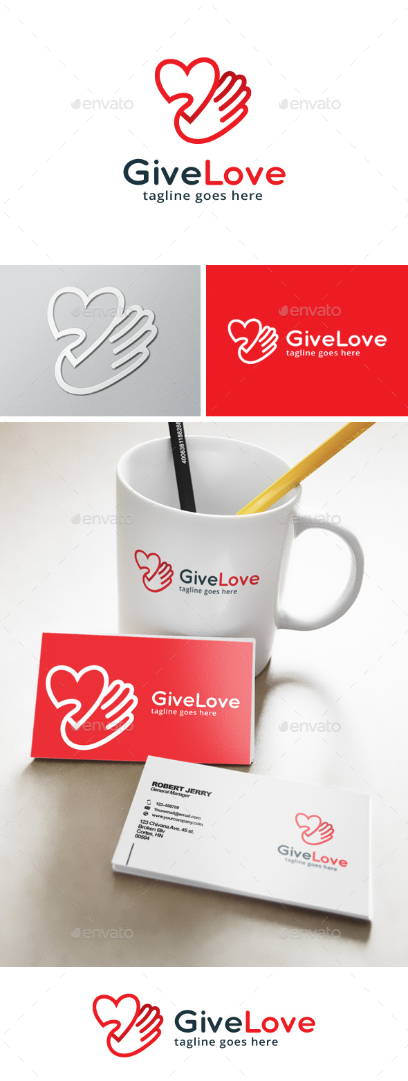 Give Love Logo - Objects Logo Templates