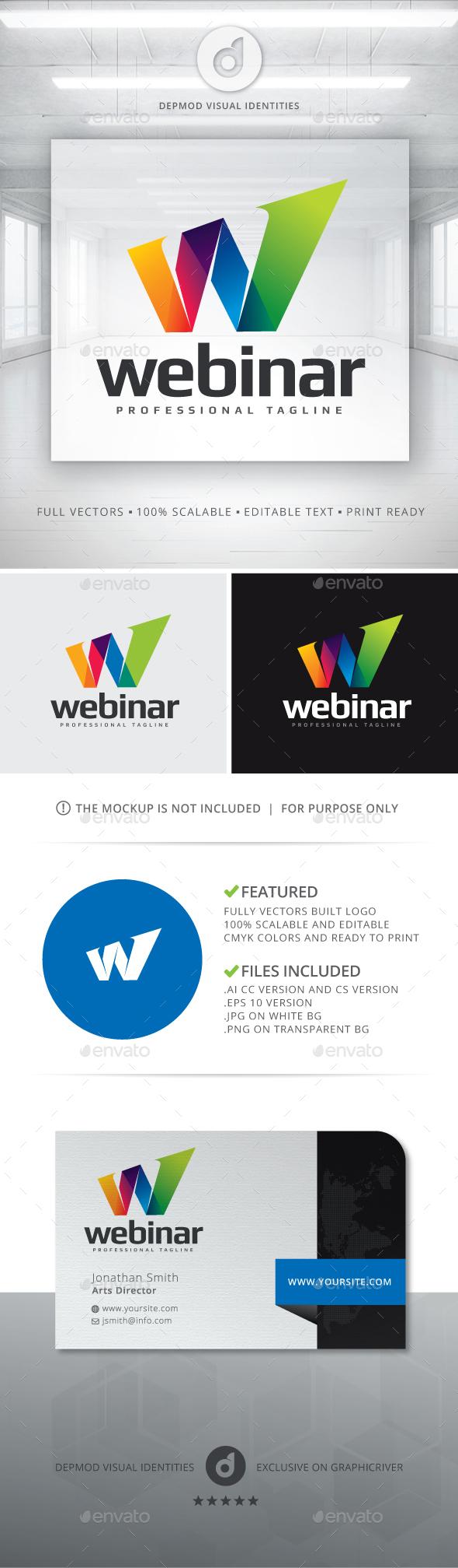 Webinar Logo - Letters Logo Templates