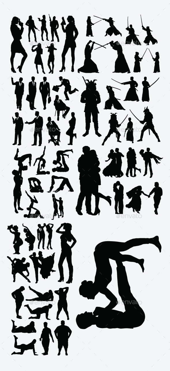 Useful People Silhouettes - People Characters
