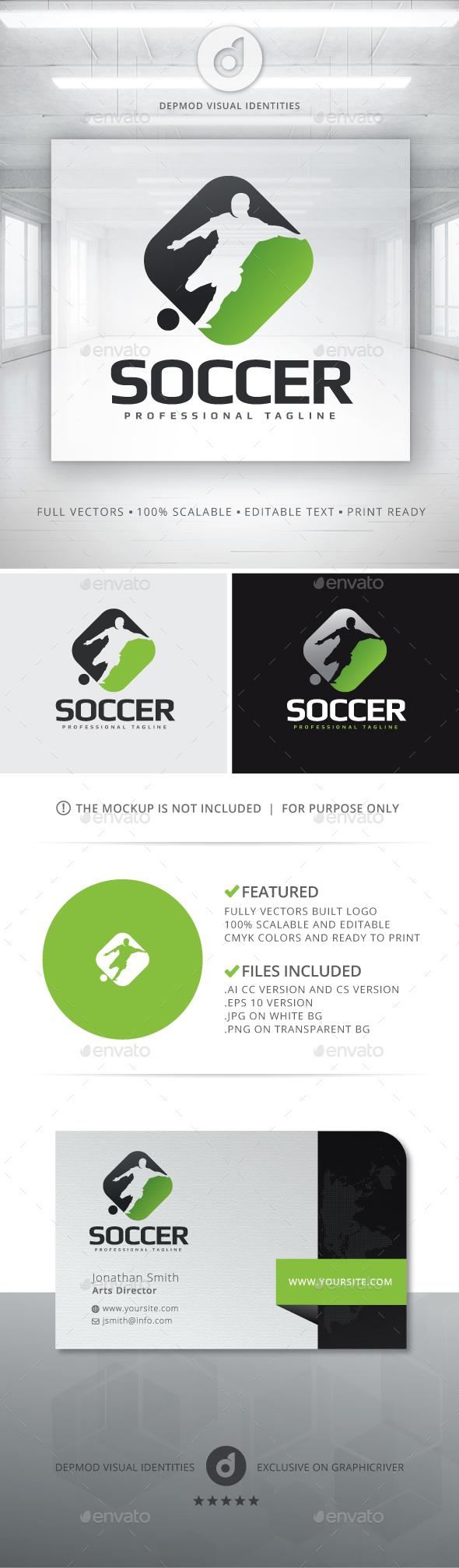 Soccer Logo - Humans Logo Templates