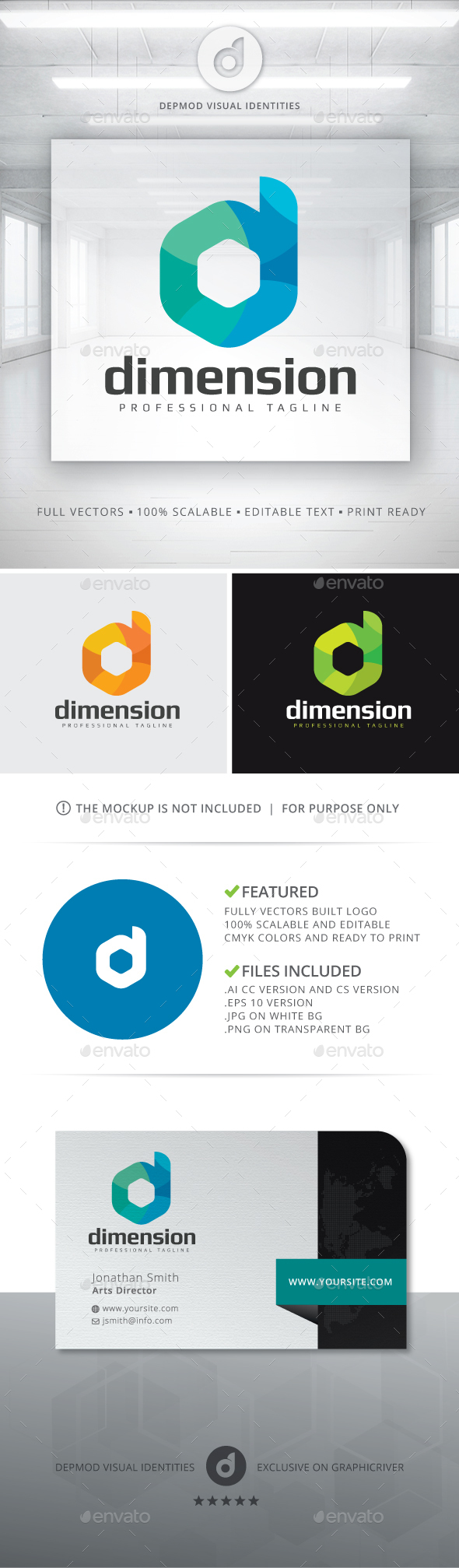 Demension Logo - Letters Logo Templates
