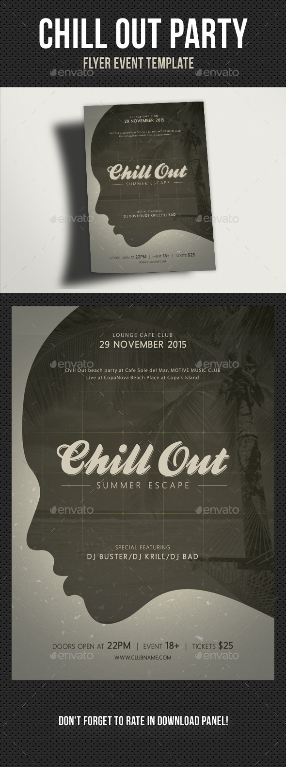 Chill Out Flyer V03 - Clubs & Parties Events