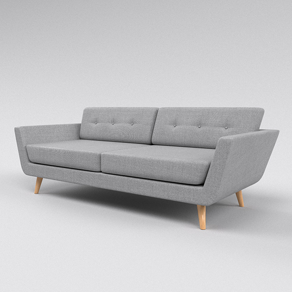 Grey sofa - 3DOcean Item for Sale
