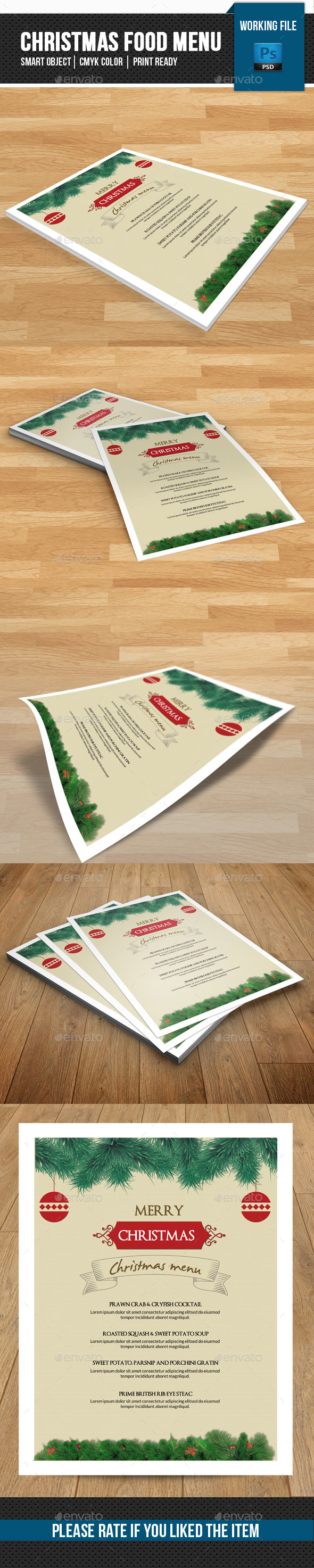 Christmas Food Menu-V03 - Food Menus Print Templates