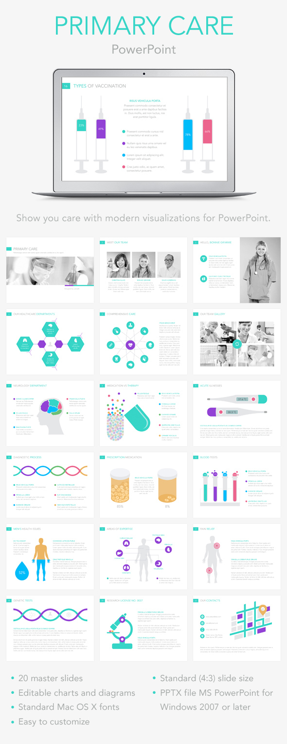 Primary care powerpoint template by jumsoft graphicriver primary care powerpoint template powerpoint templates presentation templates toneelgroepblik Images
