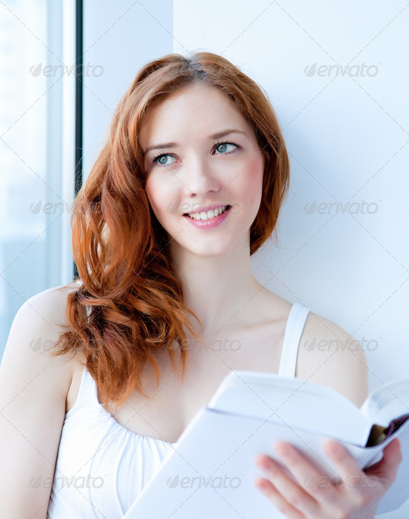 portrait of a young pretty woman - Stock Photo - Images