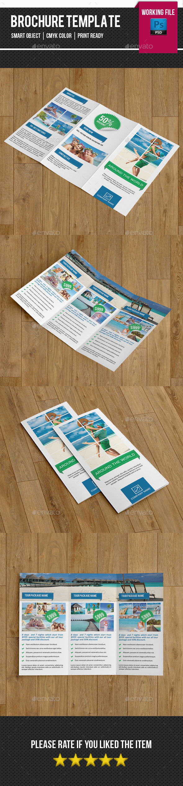 Travel Trifold Brochure-V265 - Corporate Brochures