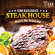 Steak & Bar Flyer Menu - GraphicRiver Item for Sale