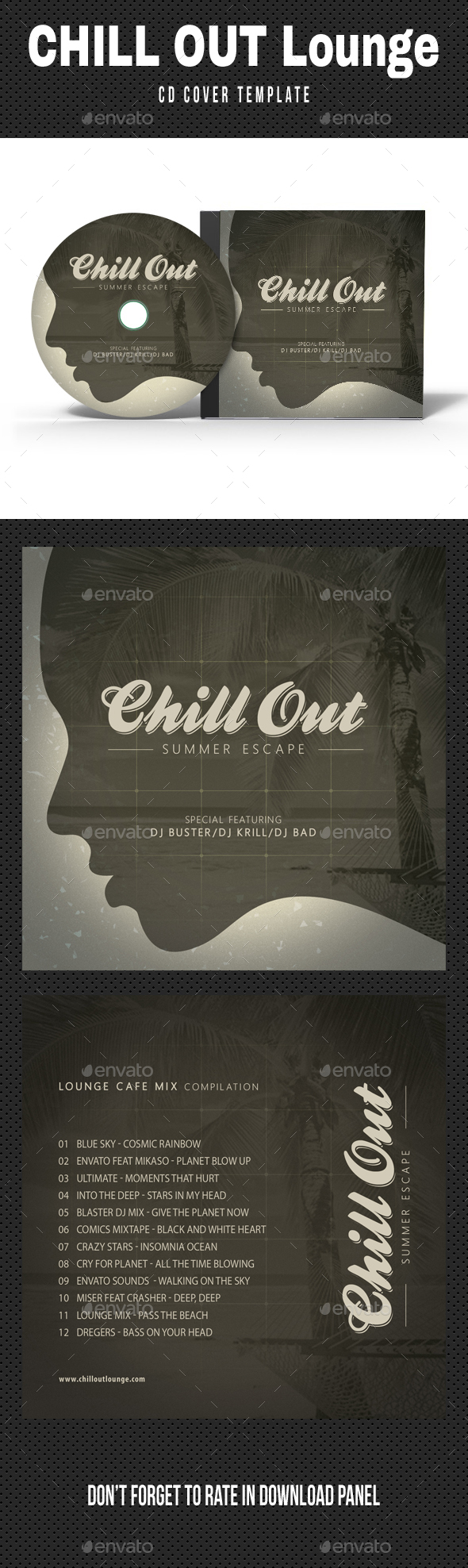 Chill Out Lounge CD Cover V02 - CD & DVD Artwork Print Templates