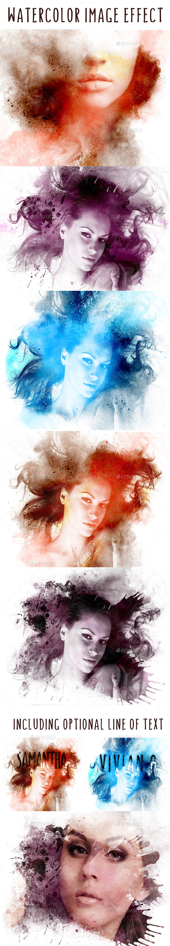 Splash Watercolor Image Effect - Artistic Photo Templates
