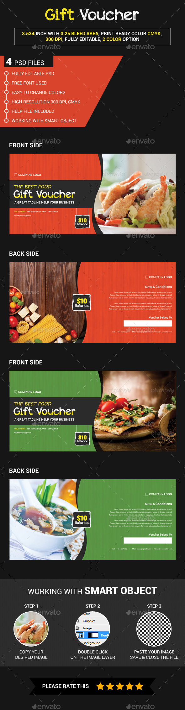 Food gift voucher - Loyalty Cards Cards & Invites