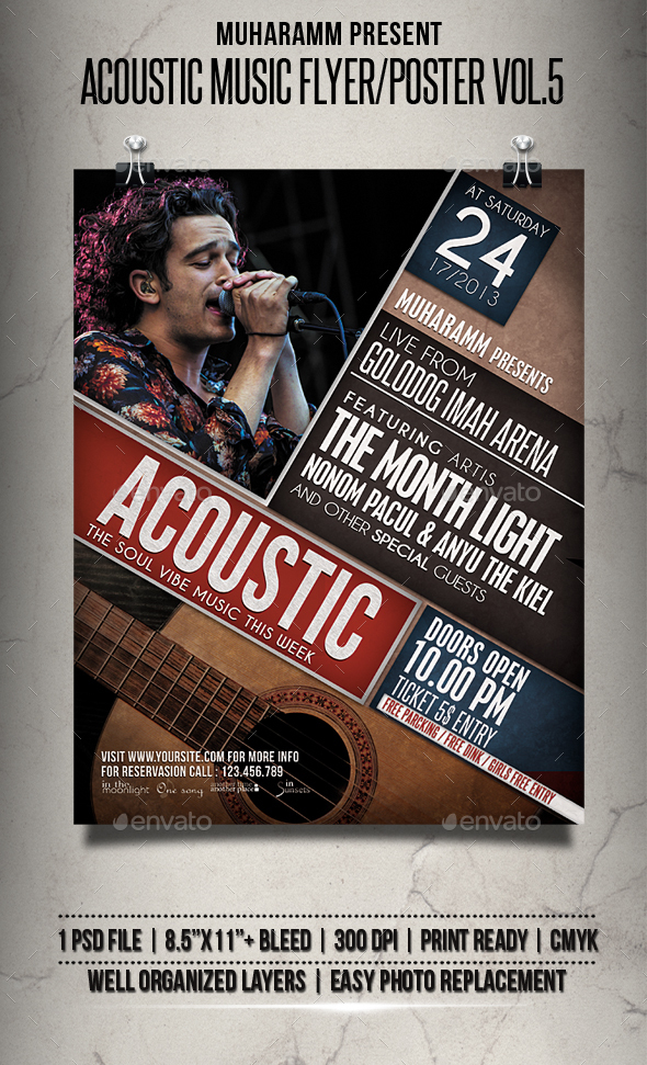 Acoustic Music Flyer / Poster Vol.5 - Events Flyers