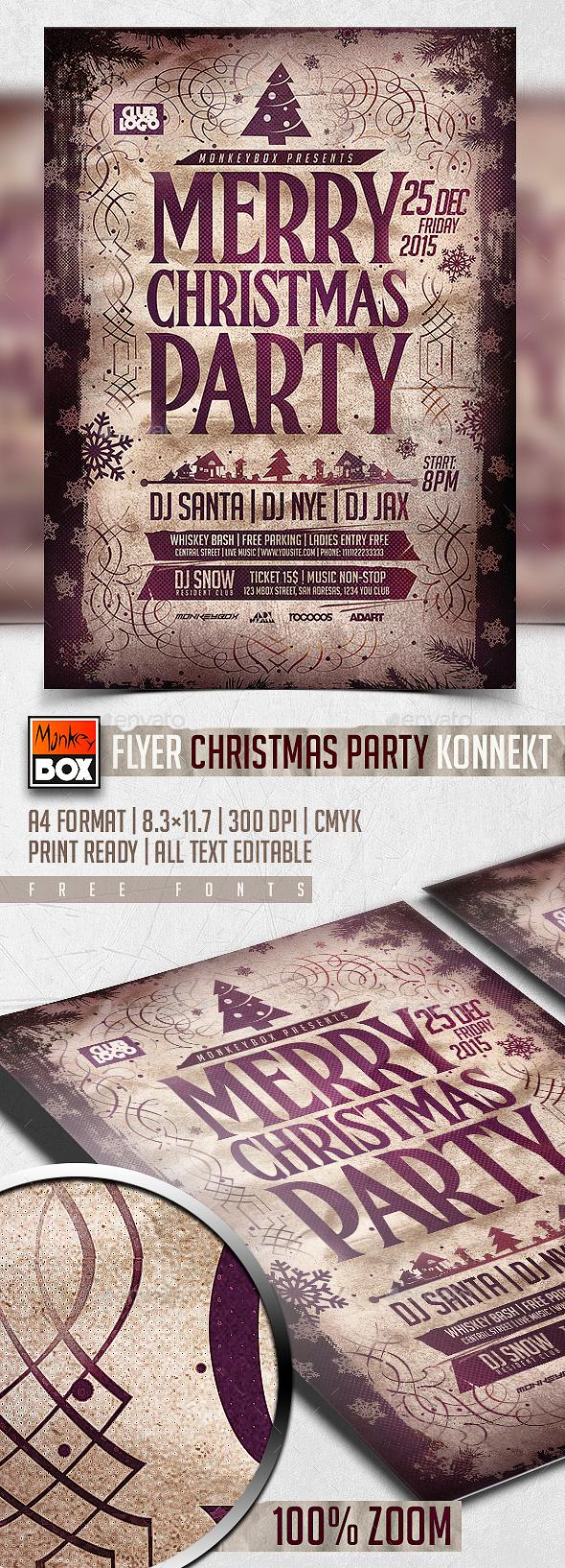Flyer Christmas Party Konnekt - Holidays Events