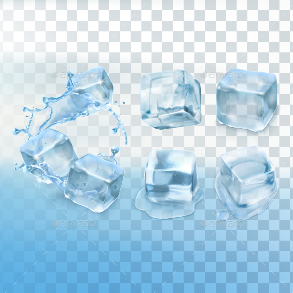 Ice Cubes - Organic Objects Objects