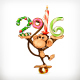 New Year Monkey - GraphicRiver Item for Sale