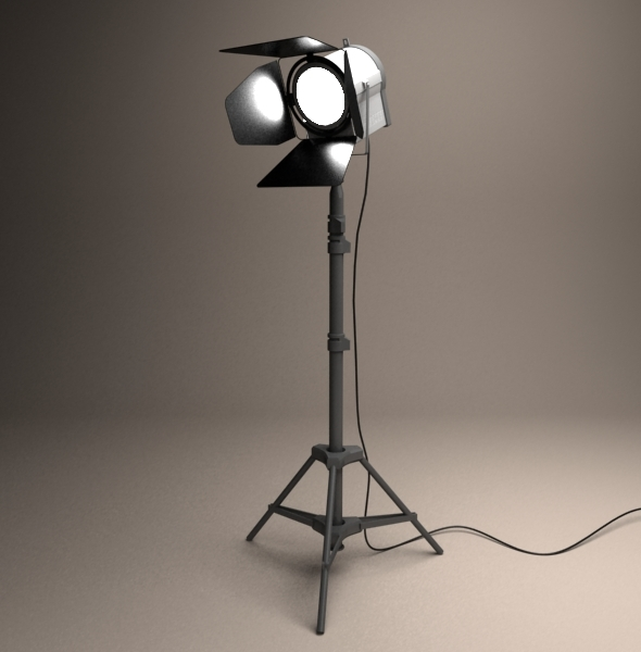 Studio spot light - 3DOcean Item for Sale