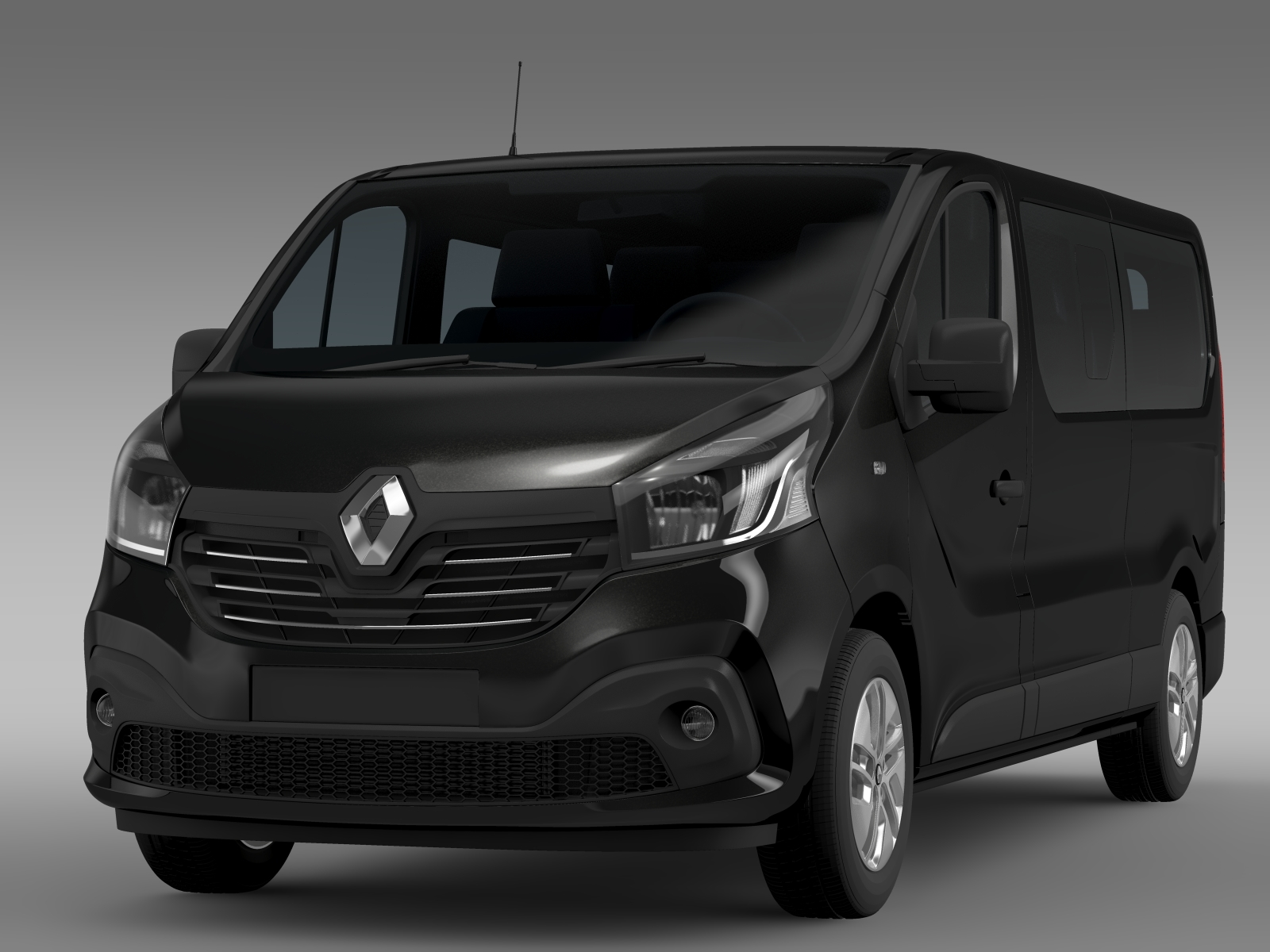 renault trafic minibus l2h1 2015 by creator 3d 3docean. Black Bedroom Furniture Sets. Home Design Ideas