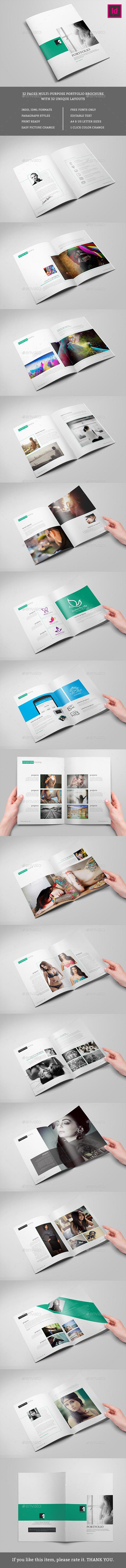 Clean Portfolio Brochure Template - Portfolio Brochures