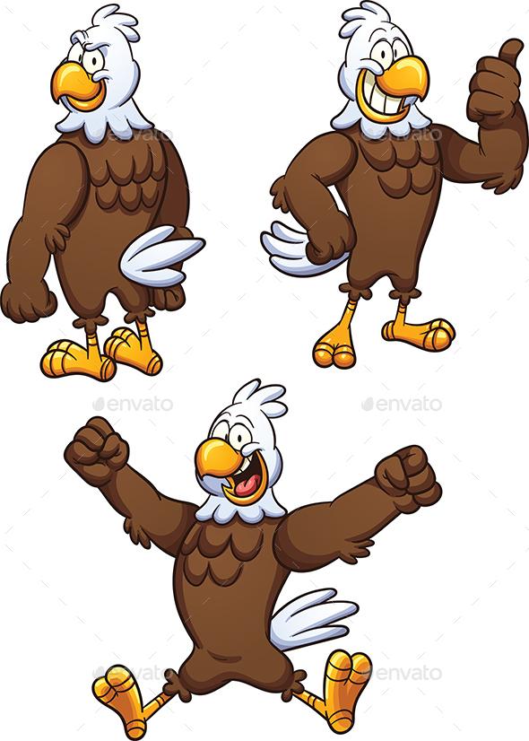 Cartoon Eagle - Animals Characters