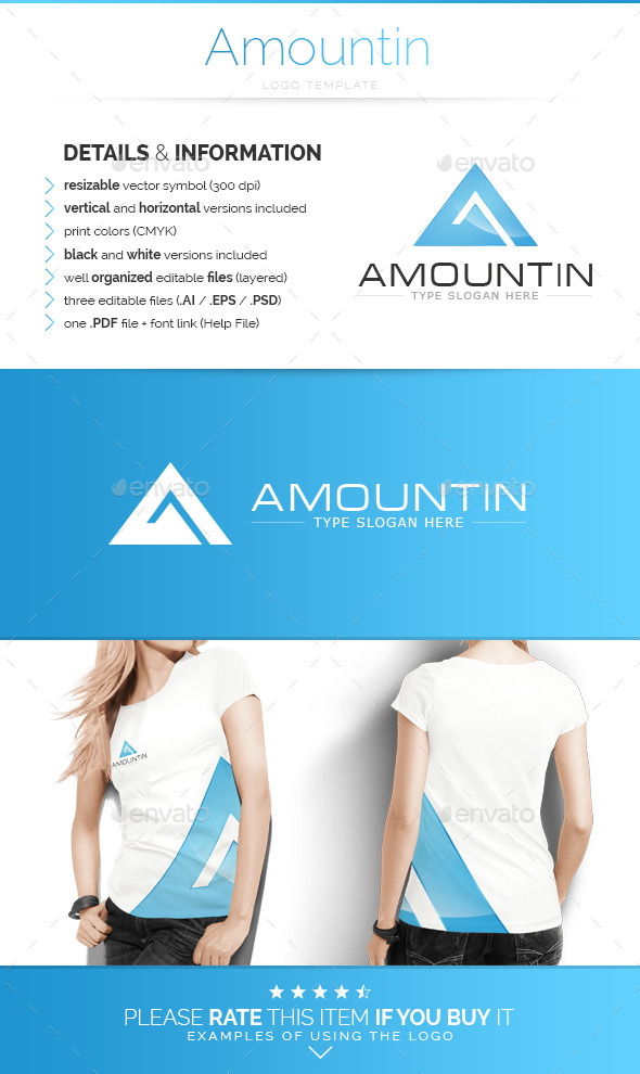 Amountin - Logo Template - Letters Logo Templates