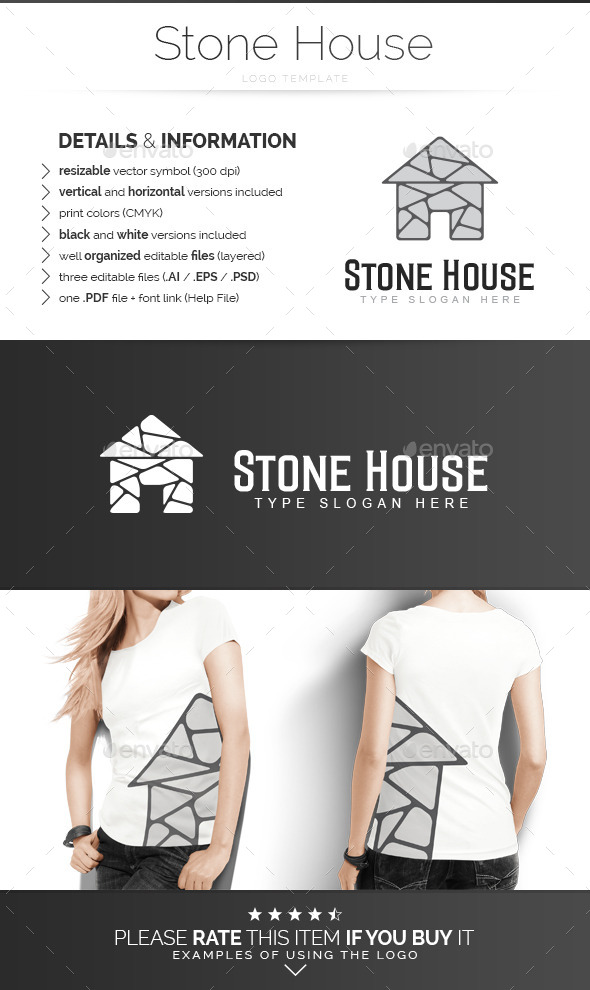 Stone House - Logo Template - Buildings Logo Templates