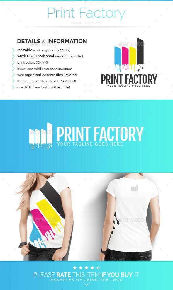 Print Factory - Logo Template - Buildings Logo Templates