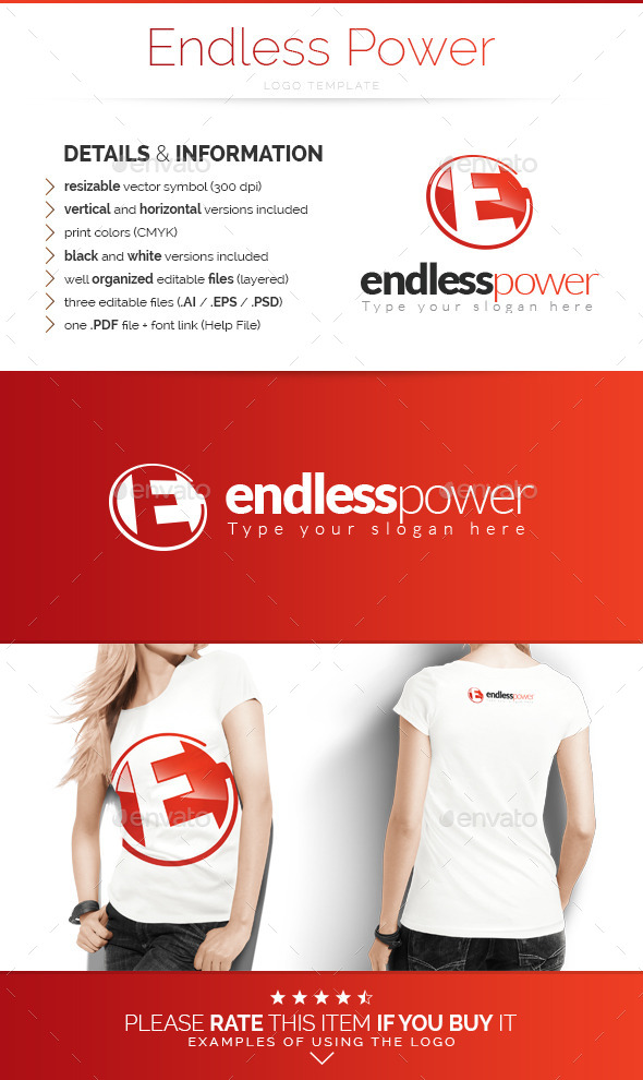 Endless Power - Logo Template - Letters Logo Templates