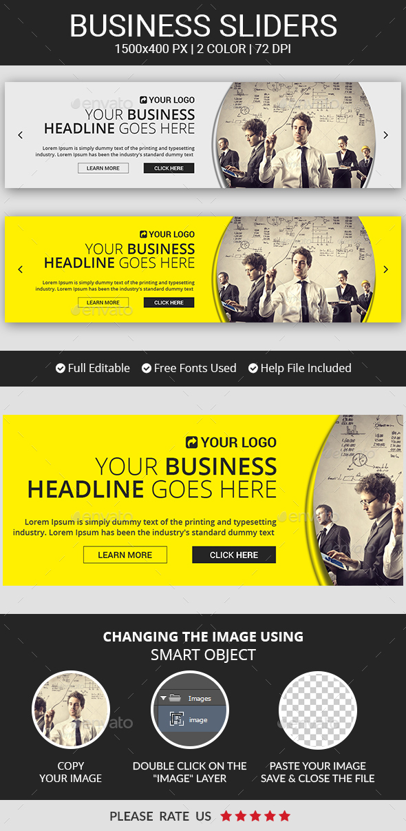 Business Campaign Sliders - Sliders & Features Web Elements