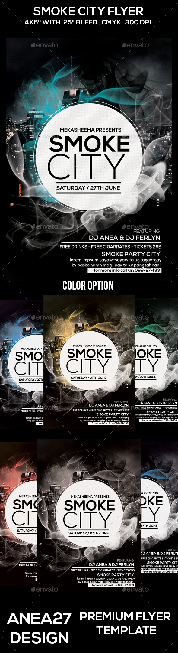 Smoke City Flyer - Clubs & Parties Events