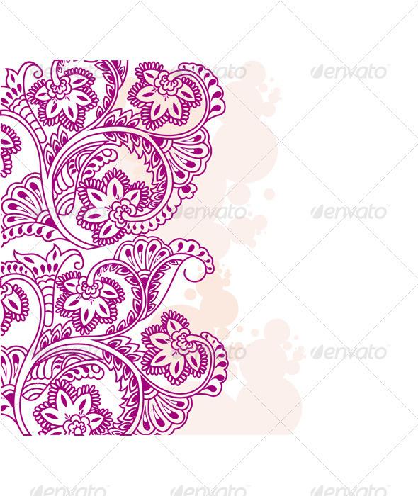 Paisley ornament - Backgrounds Decorative