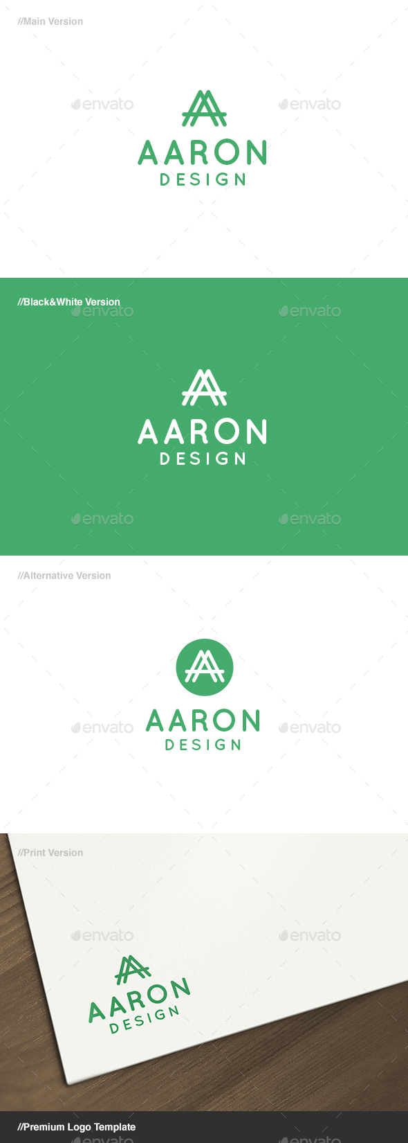 Aaron Letter A Logo - Letters Logo Templates