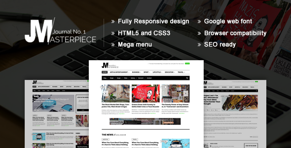 Masterpiece – HTML5 Magazine Template