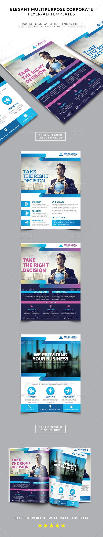 Elegant Multipurpose Business Flyer / Ad Magazine - Corporate Flyers