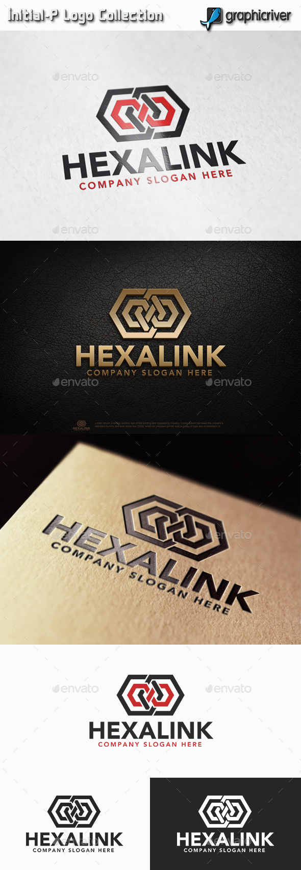 Hexagon Link - Infinity Hexagon Logo - Abstract Logo Templates