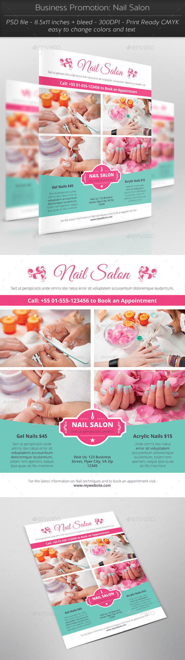 Business Promotion: Nail Salon - Commerce Flyers