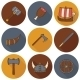 Icons On Viking Theme - GraphicRiver Item for Sale