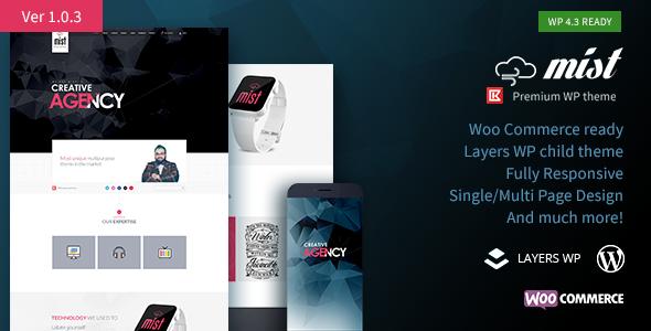 Mist | Multipurpose Layers WP Theme