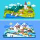 Nice Alps Landscapes. - GraphicRiver Item for Sale