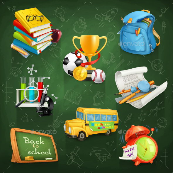 School and Education - Man-made Objects Objects