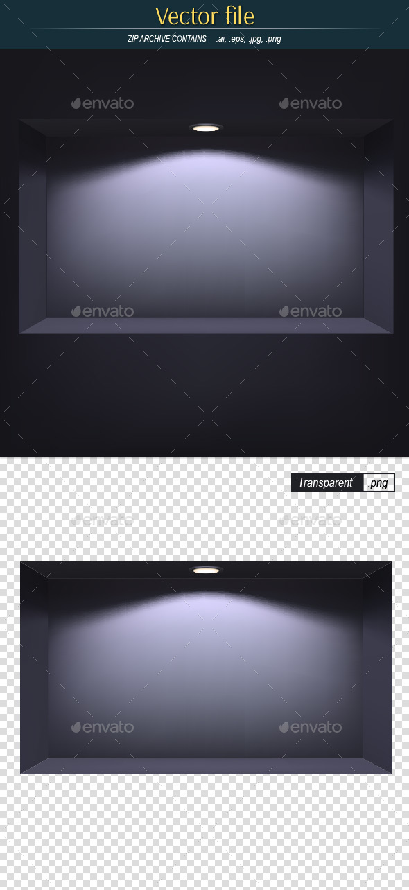 Dark Niche with Light Editable Vector - Backgrounds Decorative