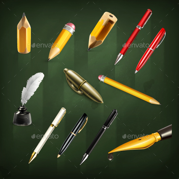 Pens and Pencils - Man-made Objects Objects