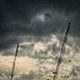 Cranes Against Dramatic Moving Sky - VideoHive Item for Sale