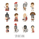 Set of Spartan Soldier Characters - GraphicRiver Item for Sale