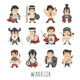 Set of Warrior Characters - GraphicRiver Item for Sale