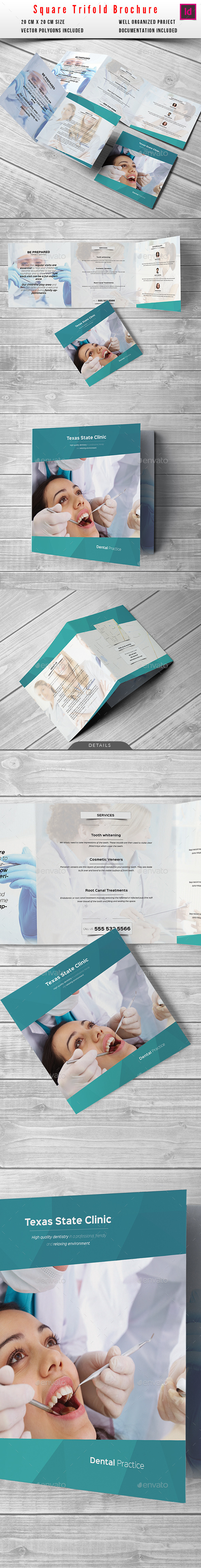 Medical Square Trifold Brochure - Informational Brochures