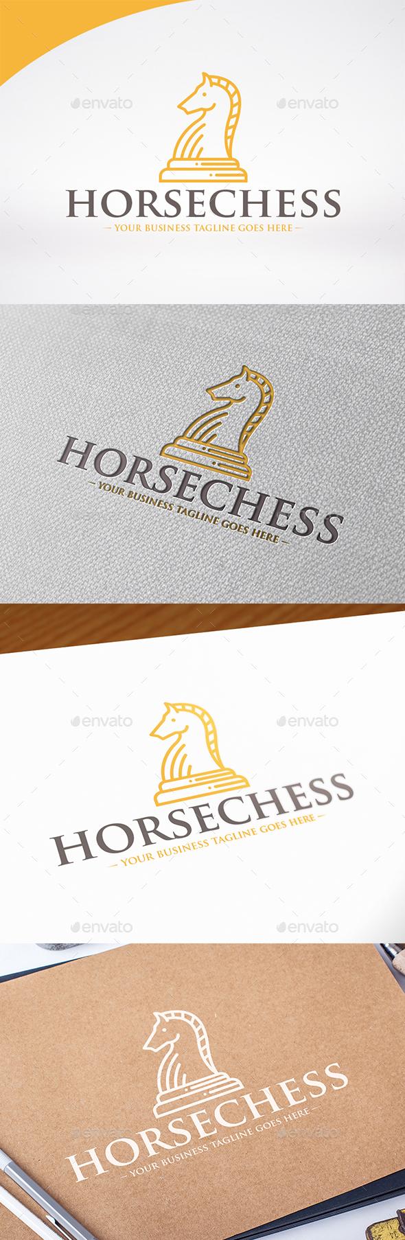 Horse Chess Logo Template - Symbols Logo Templates