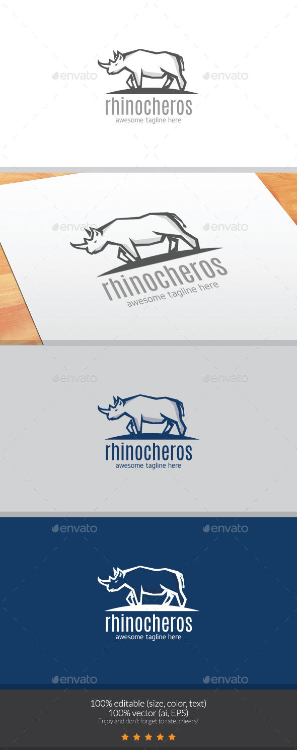 Rhinocheros Logo - Animals Logo Templates