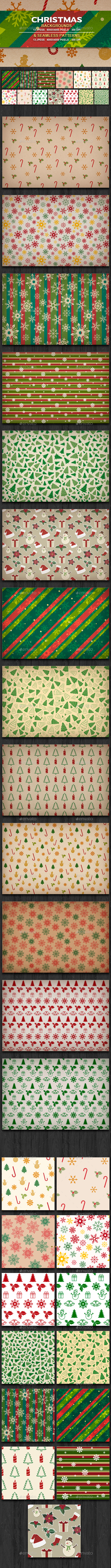 Christmas Backgrounds & Patterns  - Backgrounds Graphics
