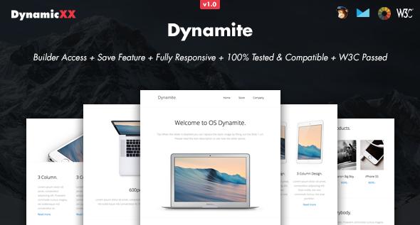 Dynamite – Responsive Email + Online Builder