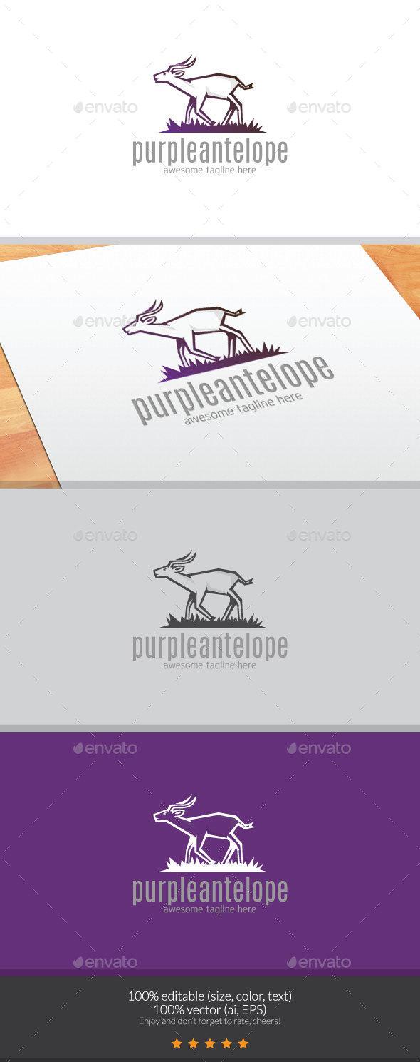 Purpleantelope Logo - Animals Logo Templates